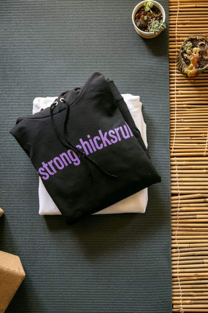 strong chicks rule sweatshirt